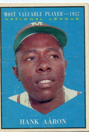 Photo of 1961 Topps #484 Hank Aaron MVP