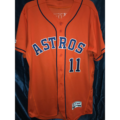 2019 Game-Used Garrett Stubbs Orange Alternate Jersey (Size 42)