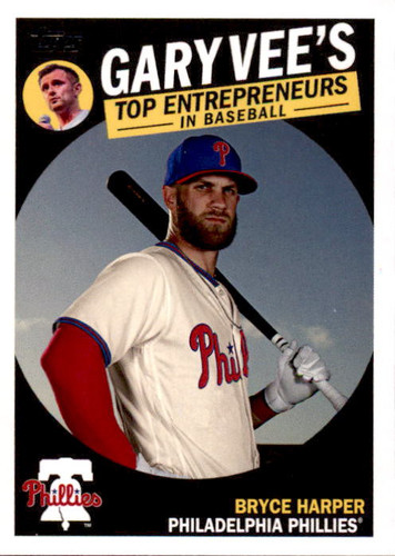 Photo of 2019 Topps Gary Vee's Top Entrepreneurs in Baseball #GV1 Bryce Harper