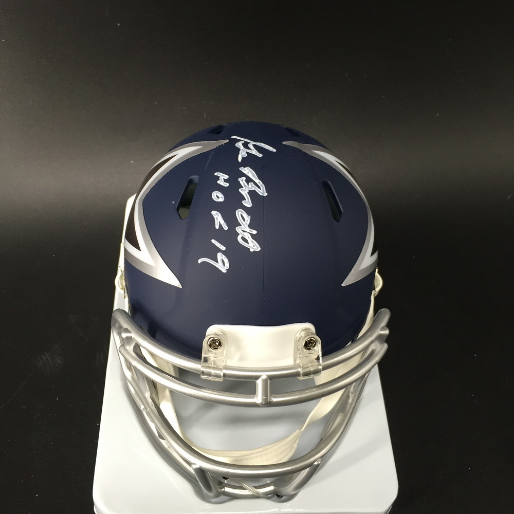 HOF - Cowboys Gil Brandt Signed Mini Helmet