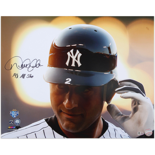 "Photo of Derek Jeter Autographed 16x20 Photo - Inscribed ""14x AS"""