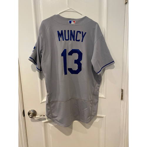 Photo of Max Muncy Authentic Game-Used Jersey from 8/16/20 Game vs LAA - Size  46