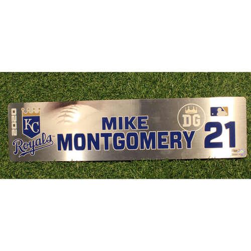 Photo of Game-Used Locker Tag: Mike Montgomery #21 (DET @ KC 9/24/20)