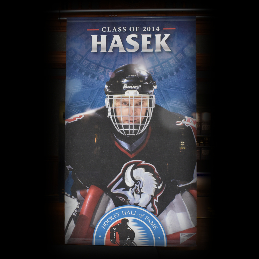 Dominik Hasek Hockey Hall of Fame Class of 2014 Banner (5ft x 9ft) - Limited Edition 1/1