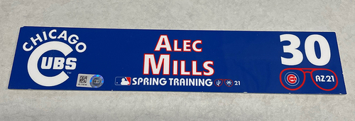 Photo of Alec Mills 2021 Spring Training Locker Nameplate