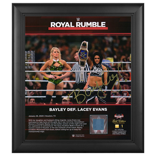 Photo of Bayley SIGNED Royal Rumble 2020 WrestleMania Gold Edition Plaque (#1 of 1)