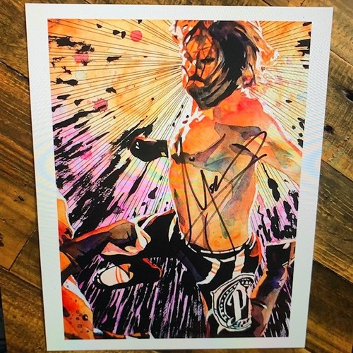 Photo of AJ Styles SIGNED Rob Schamberger 11 x 14 Art Print (Explosive Action)
