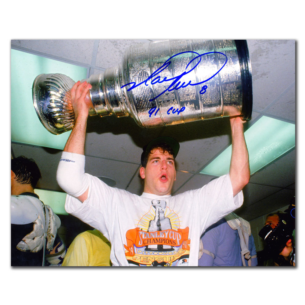Mark Recchi Pittsburgh Penguins 1991 Cup Autographed 8x10