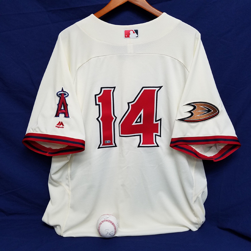 Mike Scioscia Angels Ducks Batting Practice Jersey and Baseball Package aa268aabe1f