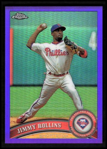 Photo of 2011 Topps Chrome Purple Refractors #117 Jimmy Rollins #d/499