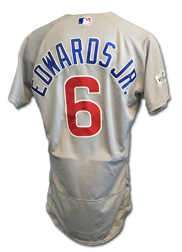 Carl Edwards, Jr. Game-Used Jersey -- NLDS Game 2 -- Cubs at Nationals -- 10/7/17