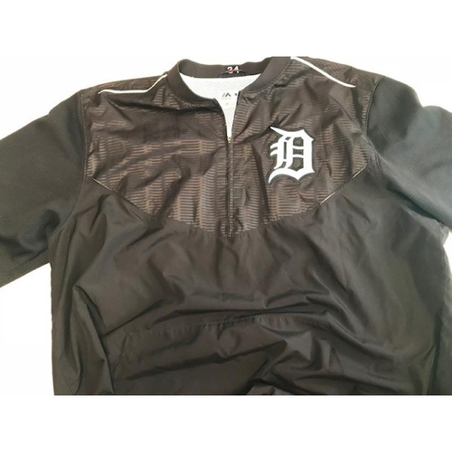 Photo of 2017 Team-Issued Detroit Tigers #34 Home Batting Practice Jacket