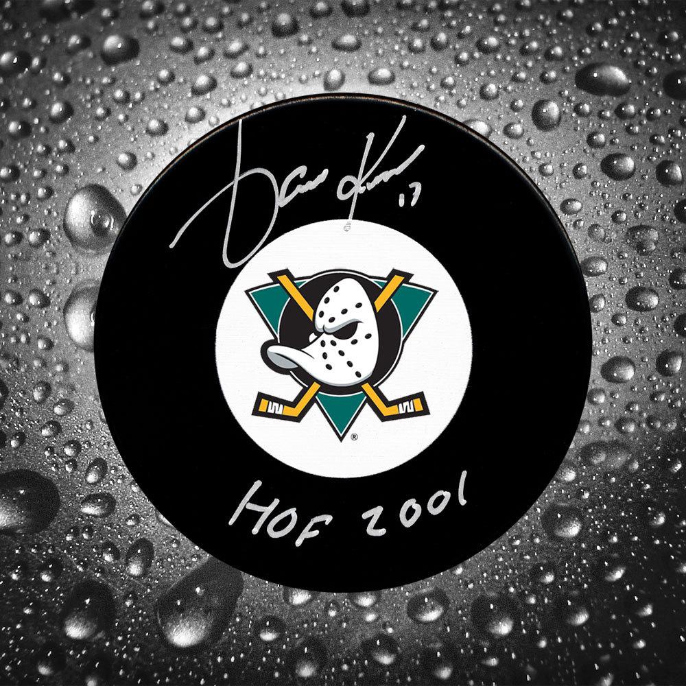 Jari Kurri Anaheim Ducks HOF Autographed Puck