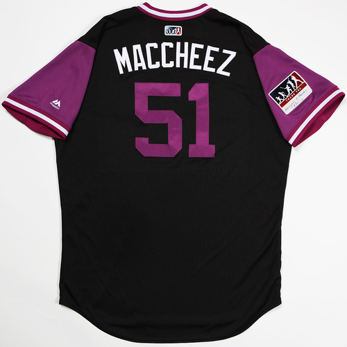 "Photo of Jake ""Maccheez"" McGee Colorado Rockies Game-Used 2018 Players' Weekend Jersey"