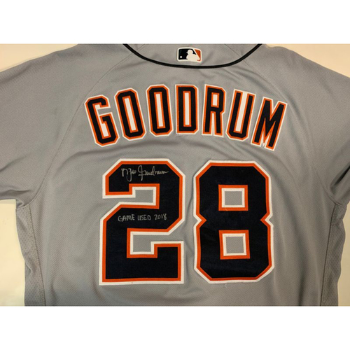 Photo of Autographed Game-Used Road Jersey: Niko Goodrum