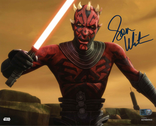 Sam Witwer As Darth Maul 8X10 Autographed in Blue Ink Photo