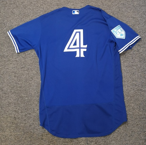 Photo of Authenticated Game Used 2019 Spring Training Jersey - #4 Luis Rivera (Mar 18. Mar 26). Size 46
