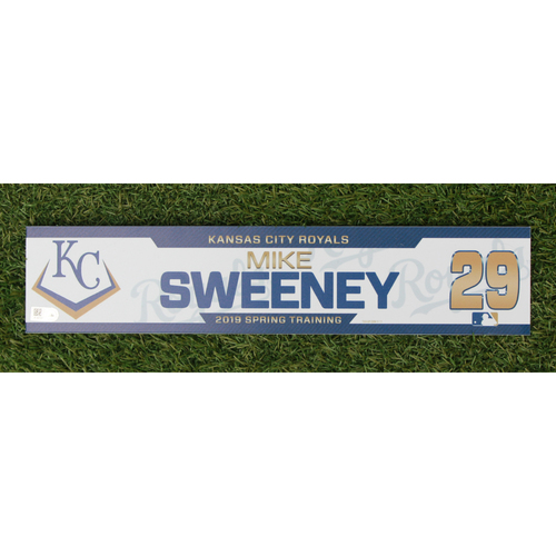 Photo of Team-Issued Spring Training Locker Tag: Mike Sweeney