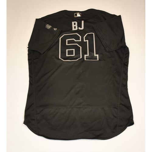 "Photo of Brian ""BJ"" Johnson Boston Red Sox Game-Used 2019 Players' Weekend Jersey"