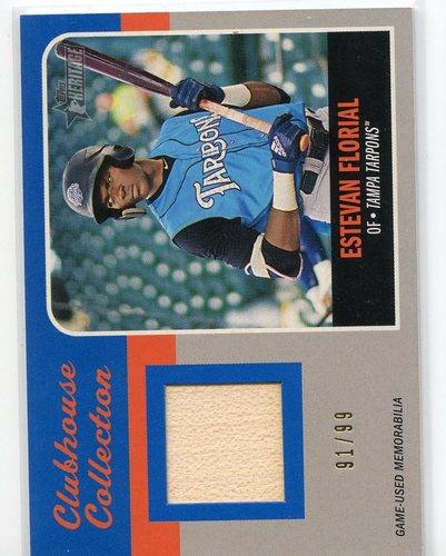 Photo of 2019 Topps Heritage Minors Clubhouse Collection Relics Blue #CCREF Estevan Florial 91/99