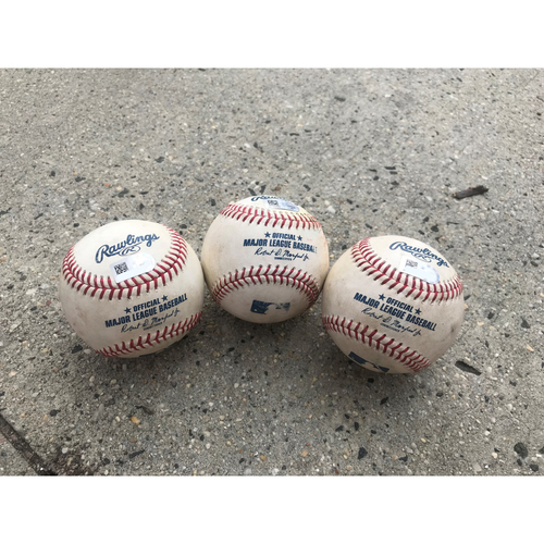Game-Used Nationals Hit Baseballs vs. Brewers, Dodgers, and Cardinals
