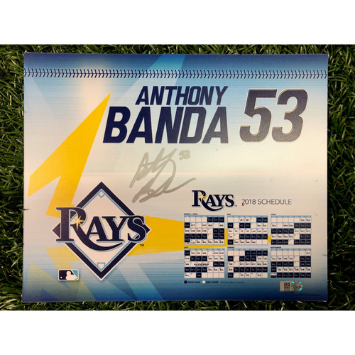 Photo of Team Issued Autographed Locker Tag: Anthony Banda - 2018 Season