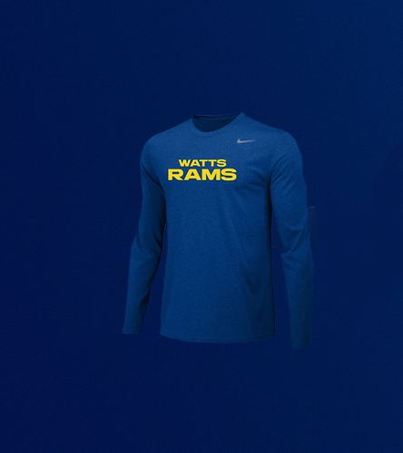 Photo of Men's Long-Sleeve Training Crew - Royal