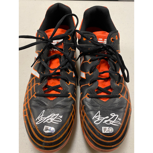 Photo of 2020 Cyber Monday Sale - #16 Aramis Garcia Autographed Black & Orange New Balance Cleats - Size 14