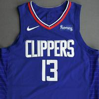 Paul George - Los Angeles Clippers - Kia NBA Tip-Off 2020 - Game-Worn Icon Edition Jersey - Scored Game-High 33 Points