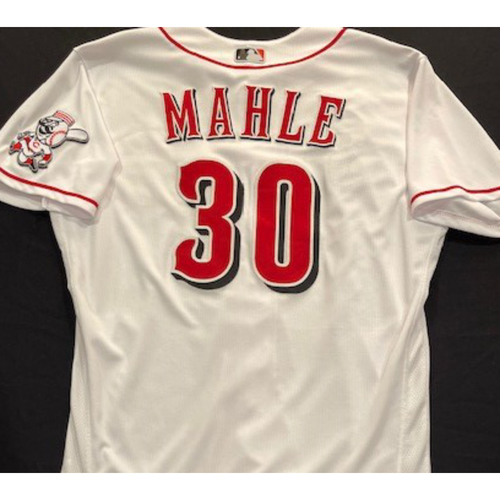 Photo of Tyler Mahle - 2020 Home White Jersey - Game-Used - Size 46 - Worn for First Start of 2020 Season (7/28/20)