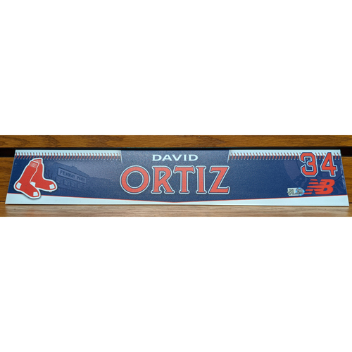 Photo of David Ortiz #34 Team Issued Locker Tag