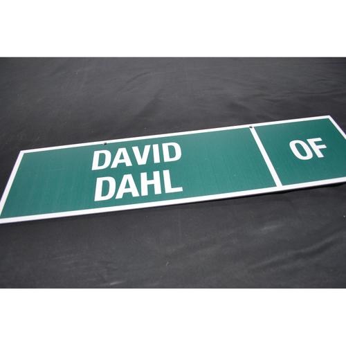 Photo of 2012 MLB Draft Nameplate - David Dahl