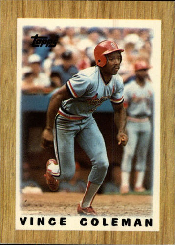 Photo of 1987 Topps Mini Leaders #32 Vince Coleman
