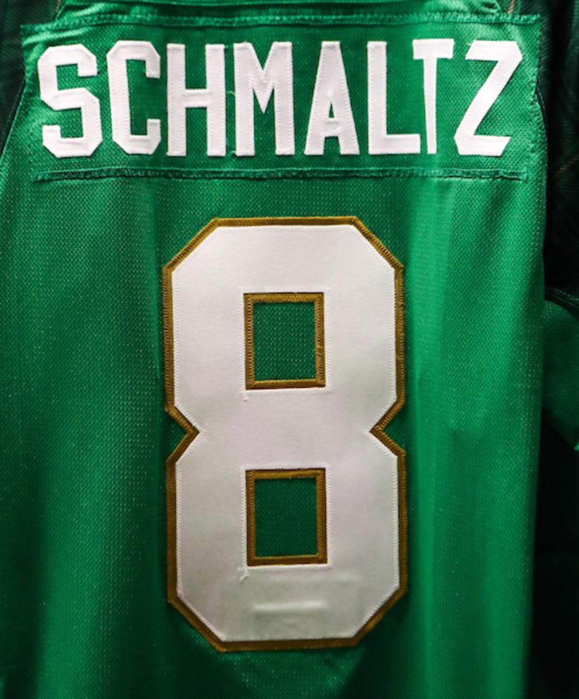 #8 - Nick Schmaltz Autographed Authentic St. Patrick's Day Jersey
