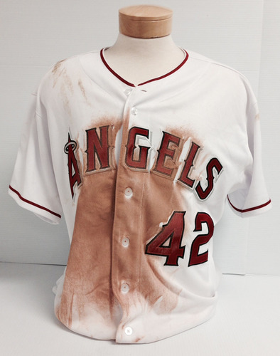 sale retailer c4633 d4128 MLB Auctions | Mike Trout 2014 Jackie Robinson Day Game-Used ...