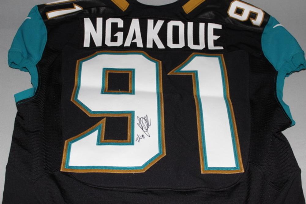 073da3885a2 NFL Auction | JAGUARS - YANNICK NGAKOUE SIGNED AND GAME WORN JAGUARS ...