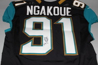 JAGUARS - YANNICK NGAKOUE SIGNED AND GAME WORN JAGUARS JERSEY (2016)