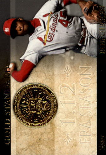 Photo of 2012 Topps Gold Standard #GS33 Bob Gibson