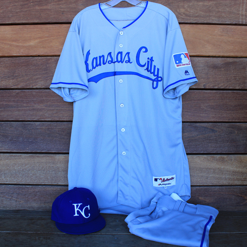 Photo of Game-Used 1969 Throwback Jersey, Pants and Cap: Homer Bailey (Jersey Size 46 - KC @ WSH  - 7/6/19)
