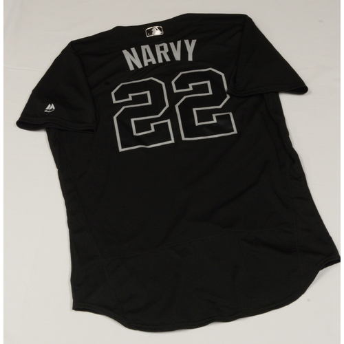"Photo of Omar ""NARVY"" Narvaez Seattle Mariners Game-Used 2019 Players' Weekend Jersey"