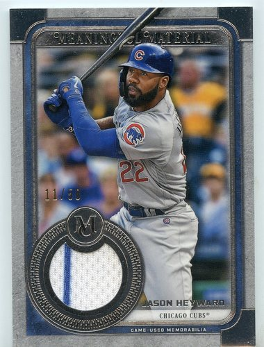Photo of 2019 Topps Museum Collection Meaningful Material Relics #MMRJHE Jason Heyward 11/50