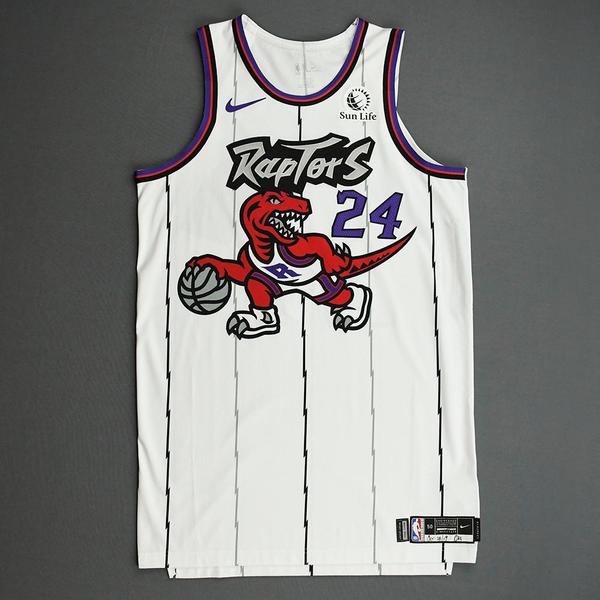 Image of Norman Powell - Toronto Raptors - Game-Worn Classic Edition 1995-96 Home Jersey - 2019-20 Season