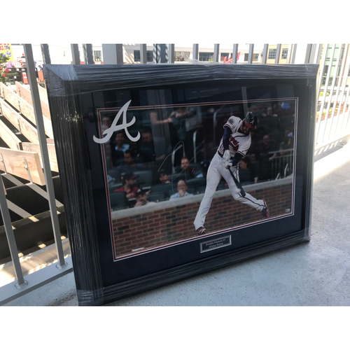 Photo of Freddie Freeman MLB Authenticated Autographed Framed Photo