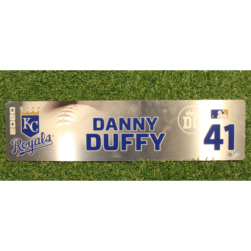 Photo of Game-Used Locker Tag: Danny Duffy #41 (DET @ KC 9/24/20)