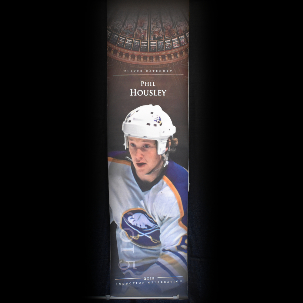 Phil Housley Book Signing Stage Banner - 2015 Induction Weekend - Limited Edition 1/1