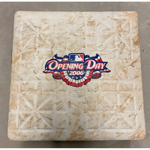 Photo of Game-Used Base: Opening Day 2006 at Comerica Park (MLB AUTHENTICATED)