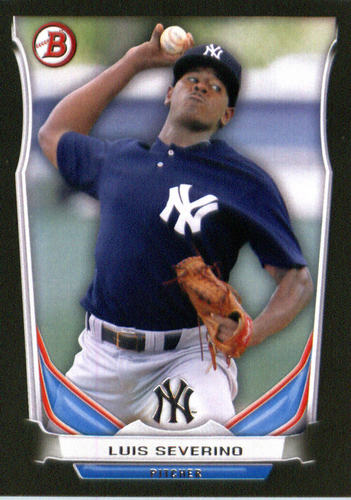 Photo of 2014 Bowman Draft Top Prospects Asia Black #TP38 Luis Severino -- Yankees post-season