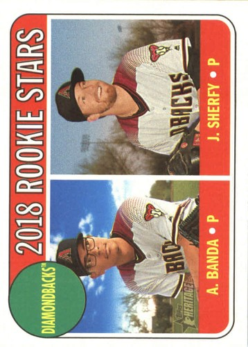 Photo of 2018 Topps Heritage #79 Anthony Banda RC/Jimmie Sherfy RC