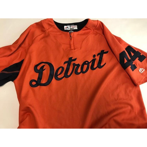 Photo of 2017 Team-Issued Detroit Tigers #44 Road Batting Practice Jersey