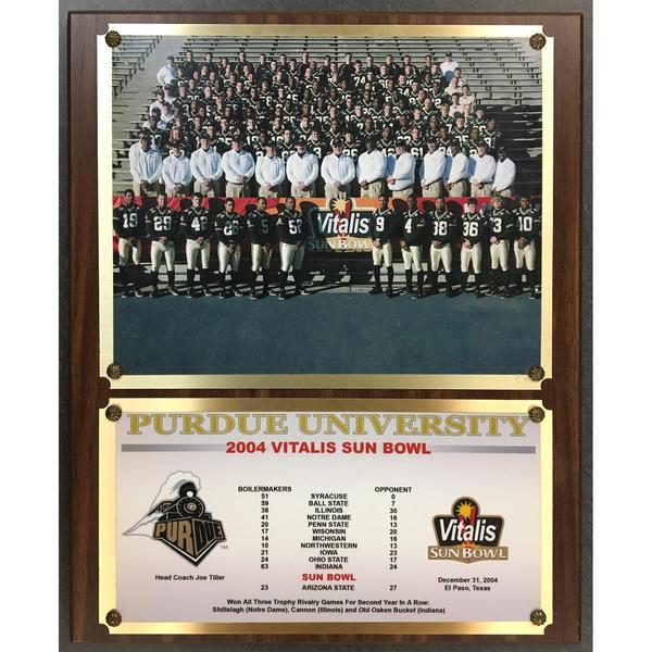 Photo of 2004 Purdue University Vitalis Sun Bowl Plaque